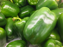 Green bell peppers Royalty Free Stock Photography