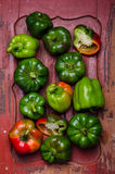Green bell-peppers Royalty Free Stock Photography