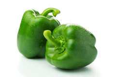 Green bell peppers Stock Photos