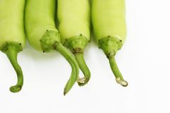 Green bell peppers Stock Photography