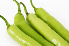 Green bell peppers Stock Images