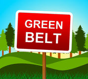 Green Belt Indicates Environment Country And Countryside Stock Image