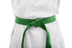 Green belt karate Royalty Free Stock Image