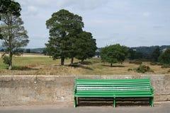 Green bench Royalty Free Stock Photos