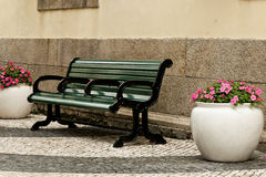 A green bench Royalty Free Stock Photo