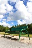 Green bench. In Poland park Royalty Free Stock Photos
