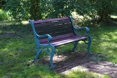 Green bench Royalty Free Stock Images