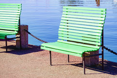 Green bench Royalty Free Stock Image