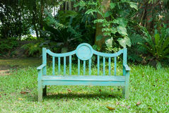 A green bench Royalty Free Stock Photos