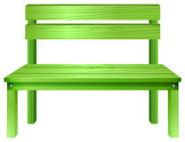 A green bench Stock Photo