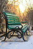 Green bench. Stock Images