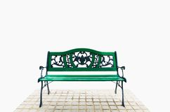 Green bench Royalty Free Stock Photos