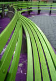 Green Benches Stock Photography