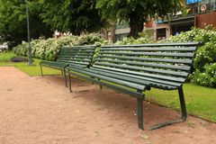Benches in the park Stock Images