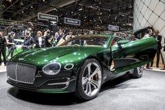 Green Bentley concept car Royalty Free Stock Photos