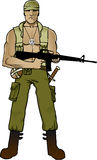 Green Beret. 1960s green beret in action Stock Images