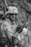 Green Beret in action stock photography