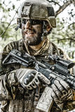 Green Beret in action royalty free stock image