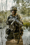 Green Beret in action Stock Images