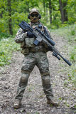 Green Berets sniper. Green Berets US Army Special Forces Group sniper in action Royalty Free Stock Photo