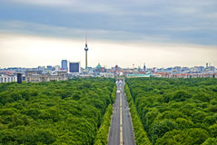Green Berlin. View on Berlin uptown of viewpoint on Victory Column Stock Image