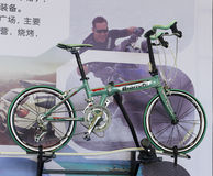 Green bianchi bicycle Royalty Free Stock Photos