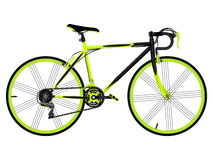 Green bicycle Stock Image