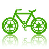 Green Bicycle Royalty Free Stock Image