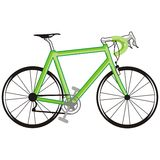 Green bicycle. Art illustration of a green bicycle Royalty Free Stock Photo