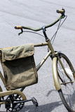 Green bicycle. Army olive drab painted bicycle Stock Images