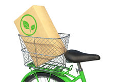Green Bicycle with Box Royalty Free Stock Photography