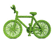 Green Bicycle Stock Photo