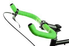 Green bicycle handlebar Royalty Free Stock Photos