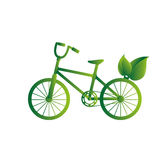 Green bicycle isolated icon Royalty Free Stock Photography