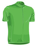 Green bicycle jersey. Used in tour de france by professional riders Stock Image