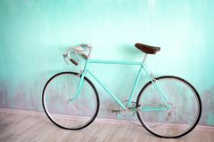 A green bicycle with large royalty free stock photo