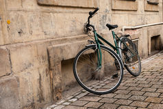 Green bicycle Royalty Free Stock Photos