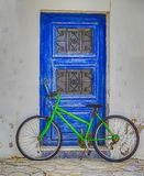 Green Bicycle Isolated. royalty free stock photography
