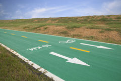 Green bicycle track Stock Image