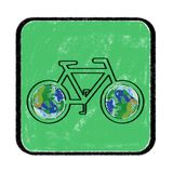 Green Bike Royalty Free Stock Photos
