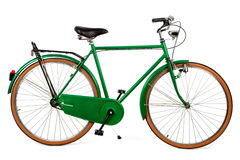 Green bike. A green bike on a white background