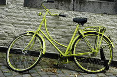 Green bike Stock Images