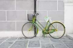 Green bike Stock Image