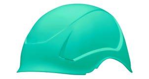 Green bike helmet isolated on white royalty free stock image