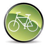 Green bike icon. In  mode Royalty Free Stock Images