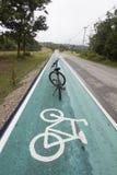 Green bike lane Royalty Free Stock Photo