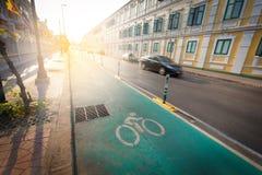 Green bike lane Royalty Free Stock Photos