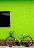 Green bike Royalty Free Stock Image