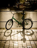 Green Bike Parked Beside the Body of Water Royalty Free Stock Photos