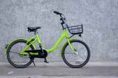 1 green bike royalty free stock photos